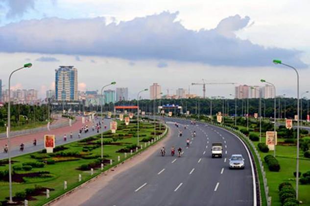 Điểm đầu tuyến đường giao với đê sông Hồng (cầu Thượng Cát) và điểm cuối giao với Đại Lộ Thăng Long.