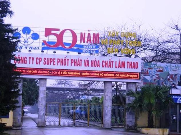 Hóa chất Lâm Thao dự kiến tăng vốn điều lệ