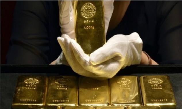 Động thái chốt lời của nhà đầu tư khiến giá vàng sụt giảm.