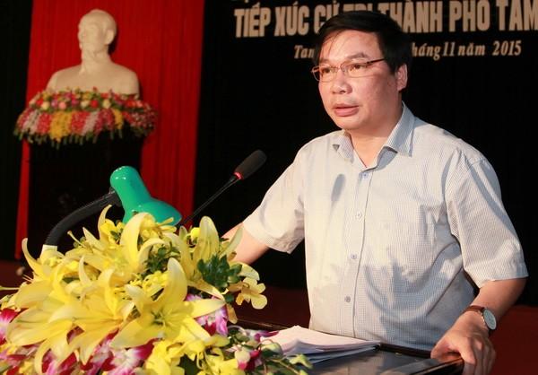 Ông Tống Quang Thìn - tân Phó Chủ tịch UBND tỉnh Ninh Bình