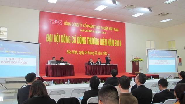 Nội dung hấp dẫn nhất của Đại hội đồng cổ đông thường niên GELEX lần này là bầu cử HĐQT nhiệm kỳ mới. Ảnh: Hồng Lam
