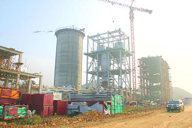 Dự án xi măng Long Sơn đang được đẩy nhanh tiến độ thi công để hoàn thành vào quý 3/2016