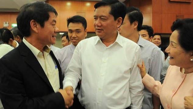 Bí thư Thành ủy TP.HCM Đinh La Thăng gặp gỡ doanh nhân - Ảnh: Tự Trung
