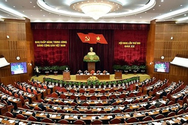 Hội nghị lần thứ hai Ban Chấp hành Trung ương Đảng khóa XII. Ảnh: VGP