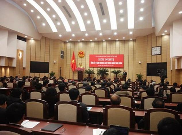Hội nghị tổng kết phòng chống tham nhũng tại Hà Nội sáng 15/3. Ảnh LD