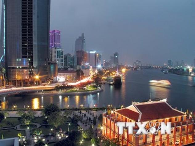 Trung tâm Thành phố Hồ Chí Minh, đầu tàu kinh tế của Việt Nam. (Ảnh: Tràng Dương/TTXVN)