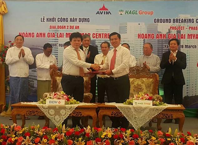 Hoàng Anh Gia Lai vừa khởi công giai đoạn 2 dự án Hoàng Anh Gia Lai Myanmar Center tại Yangon.