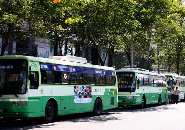 Sắp tới, TP.HCM dự kiến triển khai mở rộng đấu giá quyền khai thác quảng cáo trên các tuyến bus. Ảnh: NC