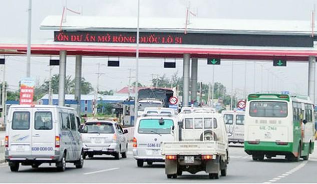 Trạm thu phí tại huyện Tân Thành, tỉnh Bà Rịa - Vũng Tàu của dự án mở rộng BOT quốc lộ 51. Ảnh: Đông Hà