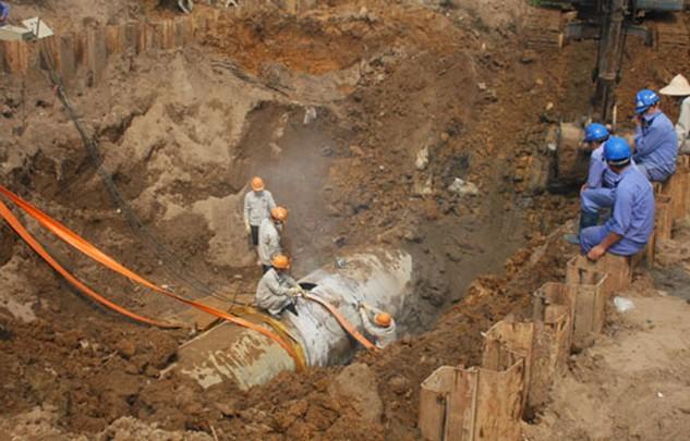 Nhà thầu Trung Quốc được lựa chọn để cung cấp ống gang dẻo cho dự án nước Sông Đà giai đoạn 2. Ảnh: Võ Hải.