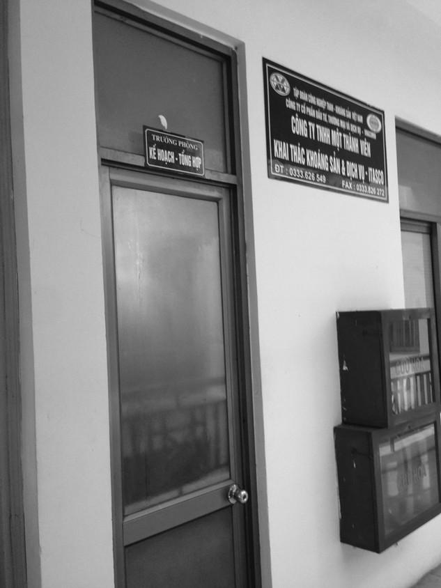 Trụ sở bên mời thầu (ảnh do nhà thầu chụp ngày 16/3/2016)