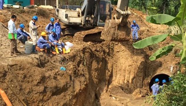 Đường ống nước sông Đà số 1 đã 17 lần bị vỡ là bài học cho đường nước sông Đà số 2 này.