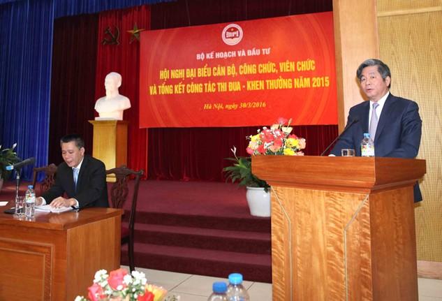 Bộ trưởng Bùi Quang Vinh phát động phong trào thi đua Ngành Kế hoạch và Đầu tư năm 2016