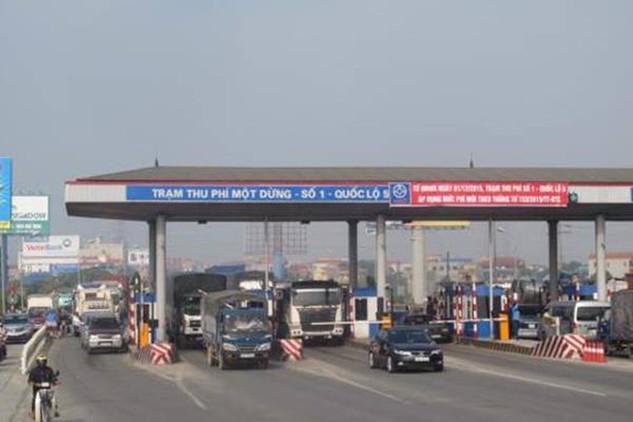 Trạm thu phí số 1 (Hưng Yên) trên Quốc lộ 5. Ảnh: Quang Toàn/TTXVN