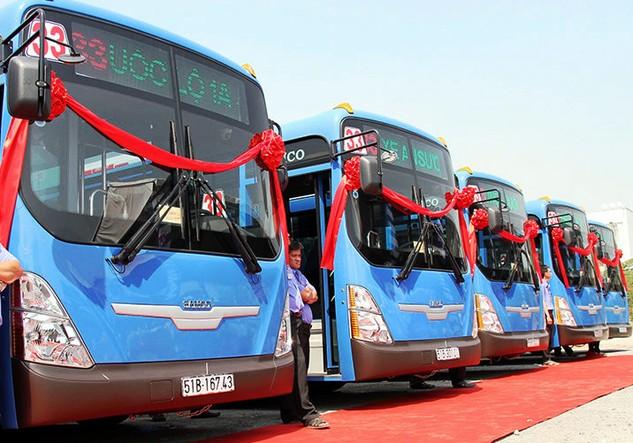 Xe buýt CNG không làm phát sinh nhiều khí độc và hầu như không phát sinh bụi. Ảnh: N.Ẩn