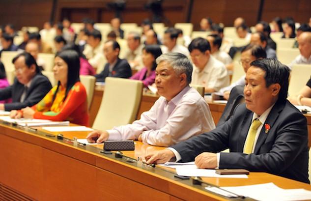 Các đại biểu làm việc những ngày cuối cùng của kỳ họp 11. Ảnh: Giang Huy