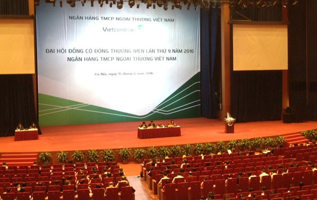 Toàn cảnh đại hội đồng cổ đông thường niên Vietcombank năm 2016