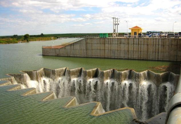 Hồ chứa nước Phước Hòa (Bình Phước) - một trong những công trình do HECII tham gia thực hiện. Ảnh: Phước Hòa