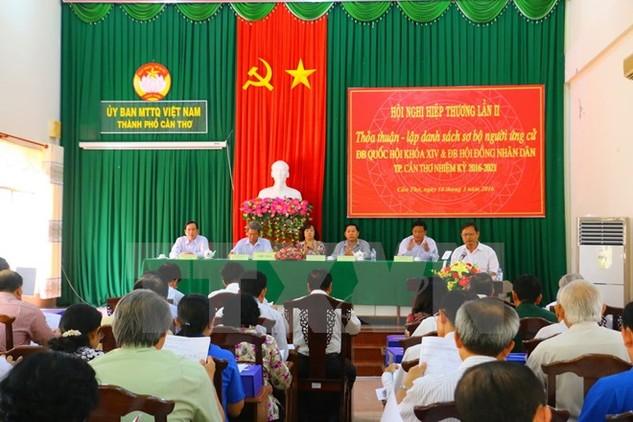 Quang cảnh hội nghị hiệp thương ở thành phố Cần Thơ. (Nguồn: TTXVN)