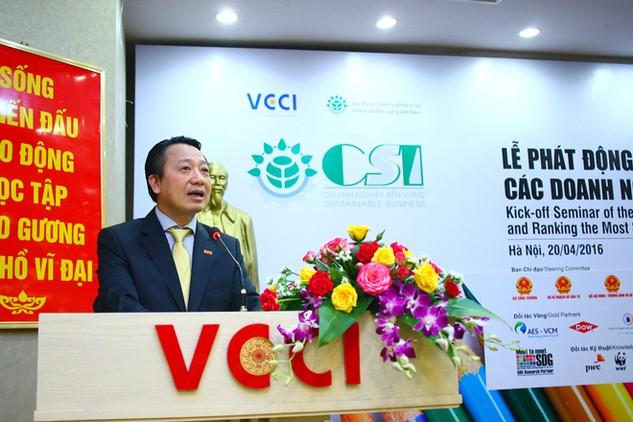 Năm 2016 là năm đầu tiên VCCI tổ chức Chương trình đánh giá, xếp hạng doanh nghiệp phát triển bền vững. Ảnh: Thanh Tú