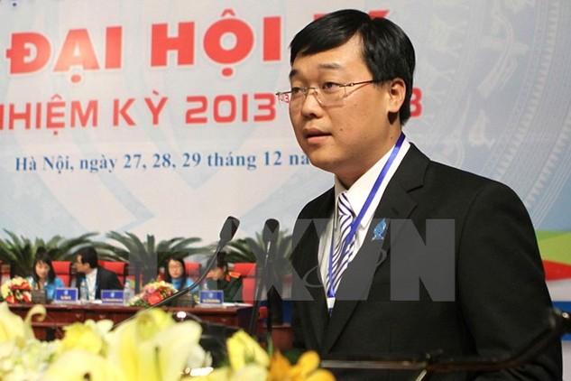 Ông Lê Quốc Phong,  Ủy viên dự khuyết Ban chấp hành Trung ương Đảng, Bí thư Trung ương Đoàn, Chủ tịch Hội Sinh viên Việt Nam. (Nguồn: TTXVN)