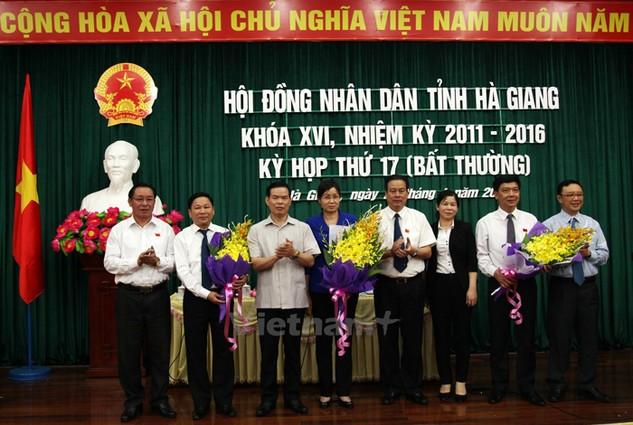Phó Chủ tịch UBND tỉnh Hà Thị Minh Hạnh (giữa). (Ảnh: Minh Tâm/Vietnam+)