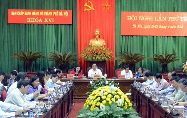 Hội nghị Ban Chấp hành Đảng bộ TP Hà Nội bàn các chương trình công tác lớn của Thành ủy