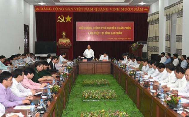 Thủ tướng Nguyễn Xuân Phúc làm việc với tỉnh Lai Châu