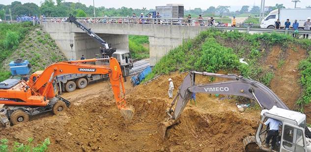 Vinaconex từng phải khắc phục sự cố vỡ đường ống nước