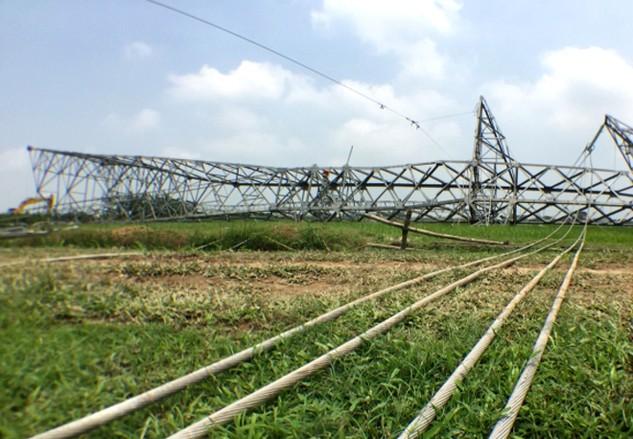 Đường dây 500 kV Quảng Ninh - Hiệp Hòa trị giá hơn 2.260 tỷ đồng, do TCT Truyền tải điện quốc gia làm chủ đầu tư. Ảnh: Phú Đô