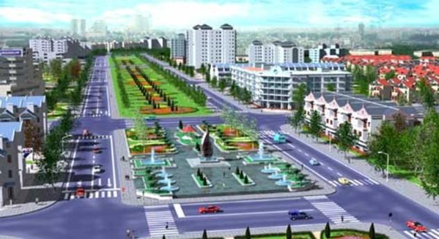 Phối cảnh Dự án đường trục Nam Hà Tây trong khu đô thị Thanh Hà Cienco 5