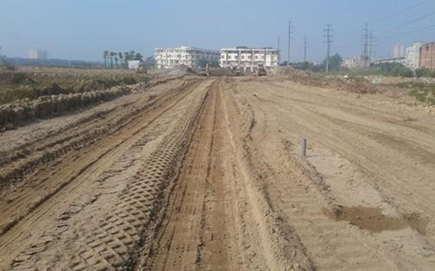 Dự án Phú Lương sau nhiều năm bất động đang được Hải Phát khẩn trương làm hạ tầng, cảnh quan.