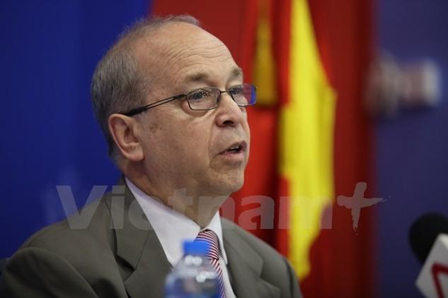 Trợ lý Ngoại trưởng Phụ trách các vấn đề Đông Á và Thái Bình Dương Daniel R. Russel . (Ảnh: Minh Sơn/Vietnam+)