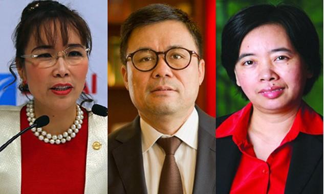 Bà Nguyễn Thị Phương Thảo, ông Nguyễn Duy Hưng và bà Đàm Bích Thủy (từ trái qua phải) đều khẳng định việc có tên trong Hồ sơ Panama do liên quan đến các hoạt động đầu tư hợp pháp của doanh nghiệp đã hoặc đang quản lý.