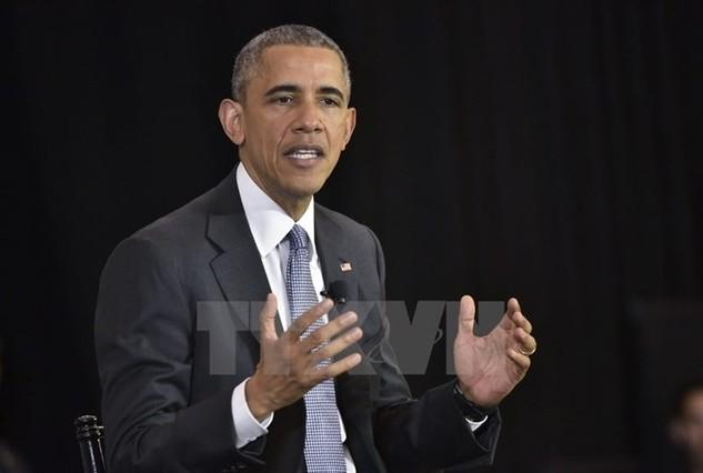 Tổng thống Hoa Kỳ Barack Obama. (Ảnh: AFP/TTXVN)
