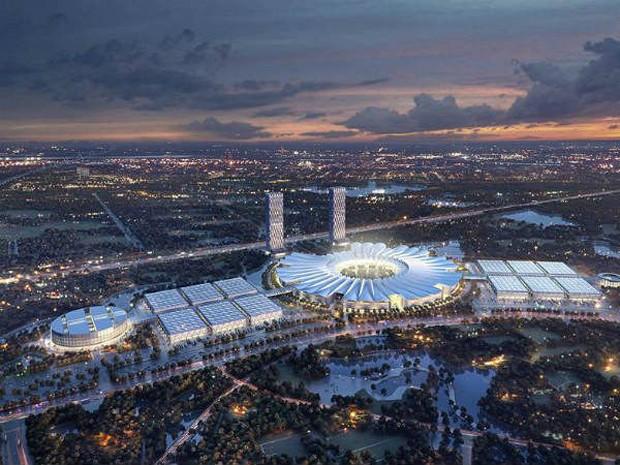 Trung tâm hội chợ triển lãm Quốc gia - Quốc tế là một trong các dự án trọng điểm được ưu tiên đầu tư theo Quy hoạch xây dựng Vùng thủ đô