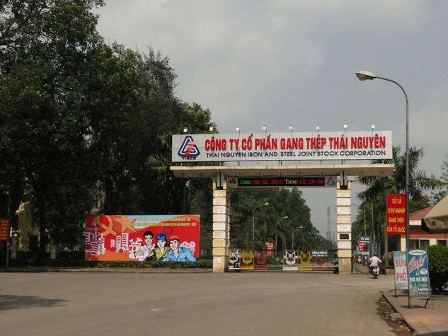 Trụ sở CTCP Gang thép Thái Nguyên (Ảnh: Internet)