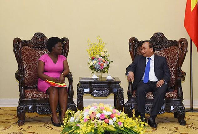 Thủ tướng Nguyễn Xuân Phúc tiếp Phó Chủ tịch World Bank Victoria Kwakwa