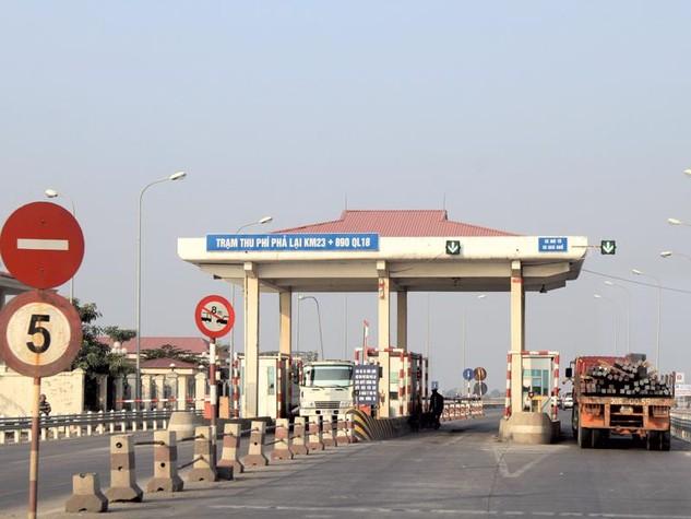 """Trạm thu phí Phả Lại sắp được """"gả"""" cho một nhà đầu tư khác để hoàn vốn cho Dự án Cải tạo, nâng cấp Quốc lộ 18 đoạn Bắc Ninh - Hạ Long. Ảnh: Đức Thanh"""