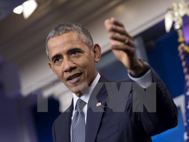 Tổng thống Mỹ Barack Obama phát biểu trong cuộc họp báo ở thủ đô Washington ngày 6/5. (Nguồn: EPA/TTXVN)