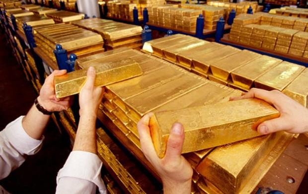 Giá vàng giảm mạnh xuống mức thấp nhất trong tuần.