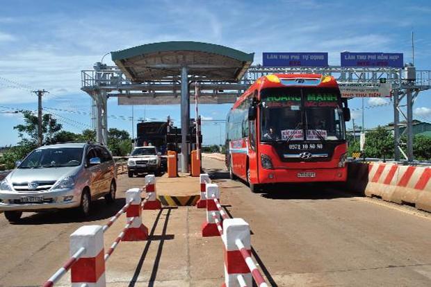 Thu phí hoàn vốn Dự án nâng cấp, mở rộng Quốc lộ 14 đoạn qua Đắk Nông do nhà đầu tư Đức Long - Gia Lai thực hiện.