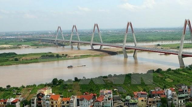 Một góc sông Hồng tại Hà Nội. (Nguồn ảnh: TTXVN)