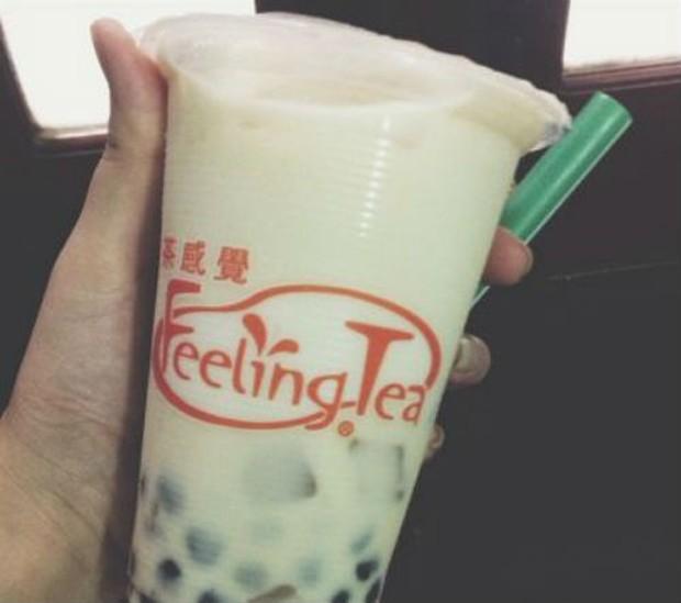 Trà sữa Feeling tea là thương hiệu quen thuộc với nhiều bạn trẻ.