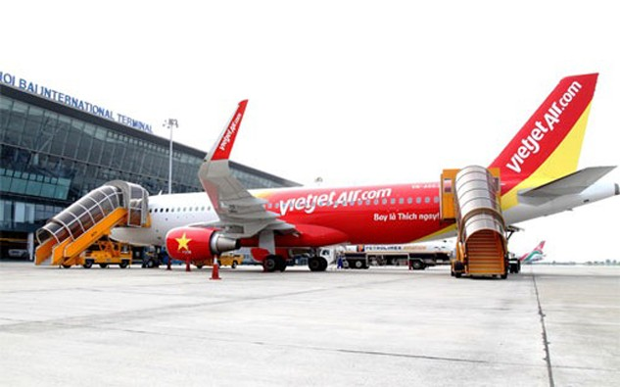 Một máy bay của hãng hàng không VietJet.