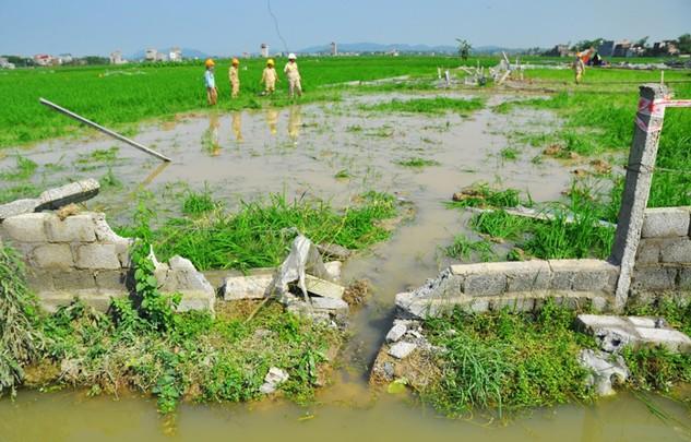 Sau vụ đổ cột điện tại Dự án Đường dây 500kV Quảng Ninh - Hiệp Hòa, PCC1 lại bị tố rút ruột công trình. Ảnh: Nguyễn Hiệp