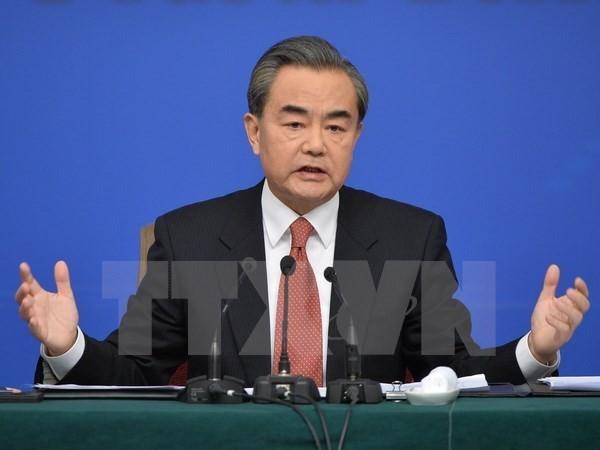 Ngoại trưởng Trung Quốc Vương Nghị. (Nguồn: THX/TTXVN)