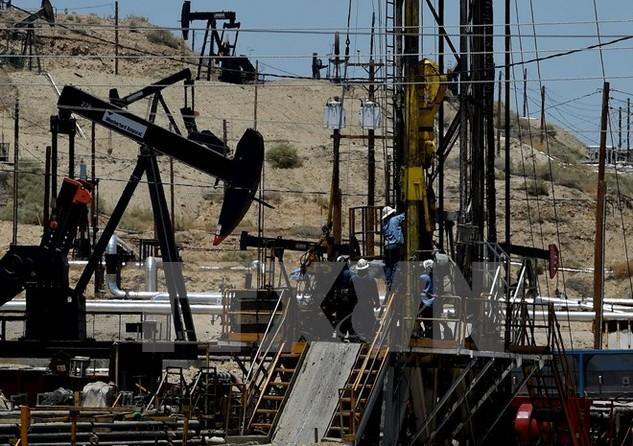 Một cơ sở khai thác dầu khí của Tập đoàn Chevron gần Bakersfield, bang California, Mỹ. (Nguồn: AFP/TTXVN)