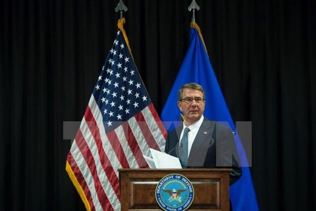 Bộ trưởng Quốc phòng Mỹ Ashton Carter. (Ảnh: EPA/TTXVN)
