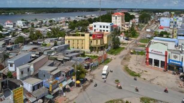 Một góc trung tâm huyện Năm Căn, Cà Mau
